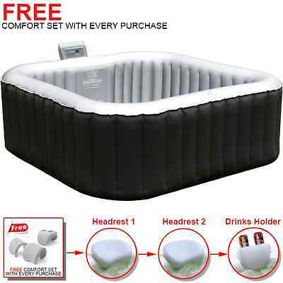 MSPA Alpine Luxury Inflatable Heated Outdoor/Indoor Square Jacuzzi Hot Tub Spa