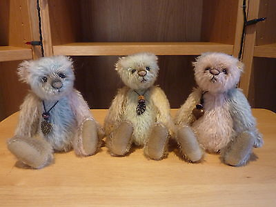 Charlie Bears Minimo Weeny, Trouble, Teeny Matched Set Number 148 - 2015