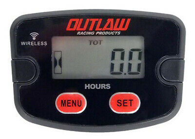 Outlaw Racing OR3566 Wireless Vibration Hour Meter ATV Motorcycle Marine Jet Ski