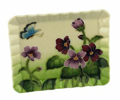 Old Tupton Ware Primrose & Butterfly Design Plate & Stand