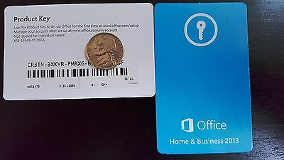 Microsoft Office Home & Business 2013 Product Key Card, SKU T5D-01575, Retail