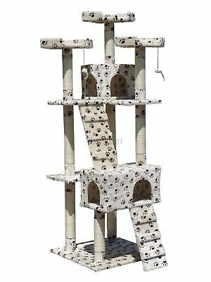 FoxHunter Kitten Cat Tree Scratching Post Sisal Toy Activity Centre BWP 608