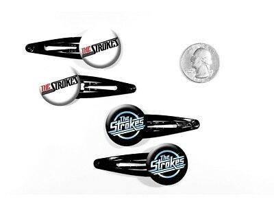 The Strokes Garage Rock 'Is This It?' New York Set of 4 Barrettes
