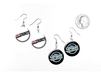The Strokes Garage Rock 'Is This It?' New York 2 Pairs of Charm Earrings