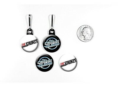The Strokes Garage Rock 'Is This It?' New York Zipper Pulls w/ Buttons