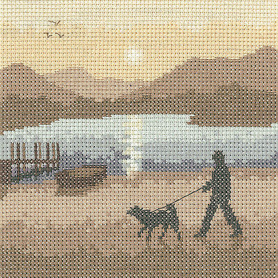 Heritage Crafts Silhouette Sunset Stroll Cross Stitch Kit