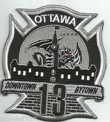 "Ottawa  Station-13, Ontario, Canada  ""Downtown Bytown"" (3.5"" x 4"") fire patch"