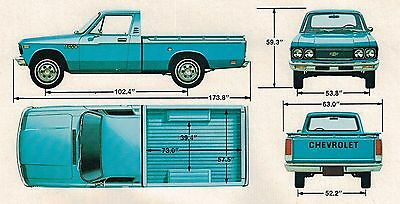 1977 Chevy LUV PICKUP TRUCK Brochure/Catalog with Color Chart: Pick Up