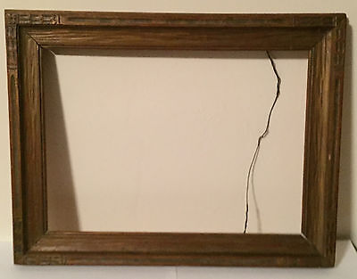 Antique Arts & Crafts Picture Frame Carved and Giltwood for Oil Painting Wood