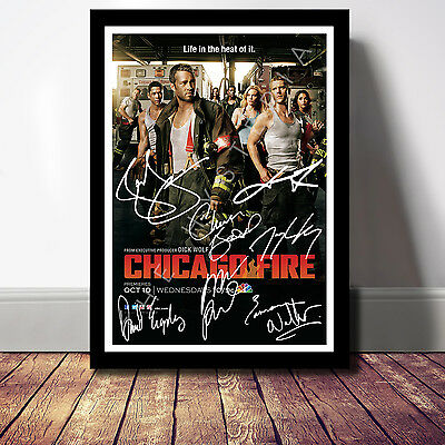 Chicago Fire Cast Signed Autograph Print Poster Photo Show Series Season Dvd