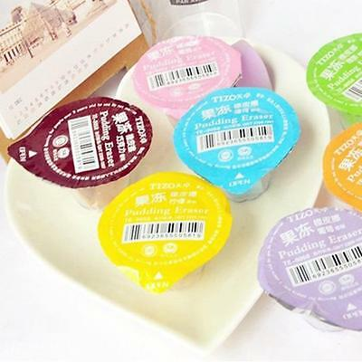 Cute Pudding Jelly Type Rubber Pencil Eraser Stationery Cleaner School Supply