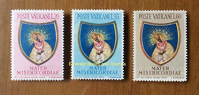 EBS Vatican City Città del Vaticano 1954 Our Lady of Gate of Dawn 189-191 MNH**