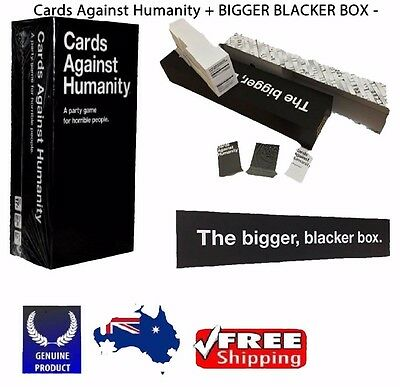 Cards Against Humanity Australian V1.7 Main Game and the BIGGER BLACKER BOX