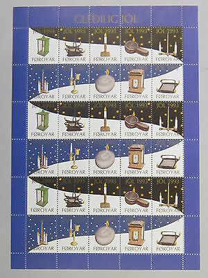 FAROE ISLANDS Christmas Stamp Seal 1993 MNH UNFOLDED