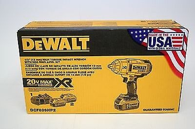 "Dewalt Dcf899Hp2 1/2"" High Torque Hr Impact Wrench Kit -  Brand New"
