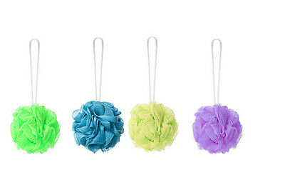 Shower- Pack Of 5 Assorted Colours Bettina Bathballs Body Puff Sponge For Bath