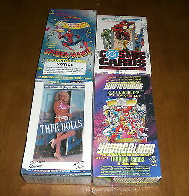 4 Non Sport Card Boxes - Dc Cosmic - Spiderman 30Th Anniversary - Youngblood