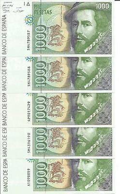 Spain 1000 Pesetas 1992  P 163. Unc Condition. One Note.  3Rw 09 Gen
