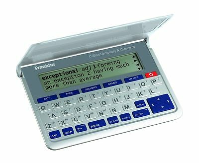 Collins Franklin Electronic Calculator English Dictionary Thesaurus DMQ570 New