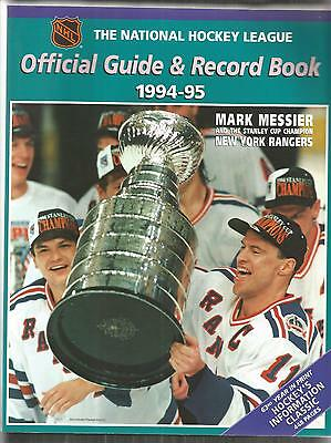 1994-95 Nhl Hockey Official Guide & Record Book - Messier & Stanley Cup Cover
