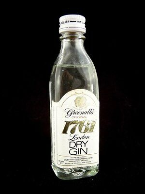 Miniature circa 1972 GREENALLS 1761 DRY GIN Isle of Wine