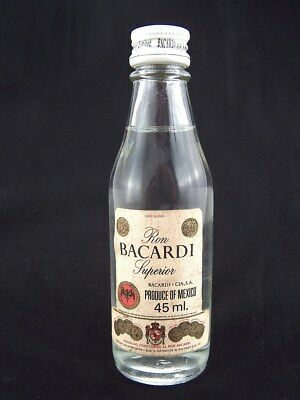 Miniature circa 1975 BACARDI 45ml (Mexico) Isle of Wine