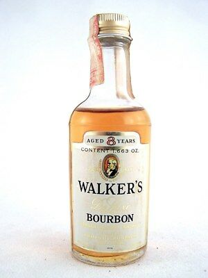 Miniature circa 1974 WALKERS Bourbon 8YO Whiskey Isle of Wine
