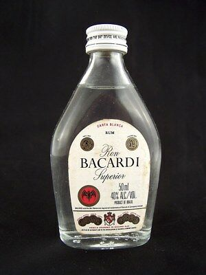 Miniature circa 1980 BACARDI 50ml (Brazil) B Isle of Wine
