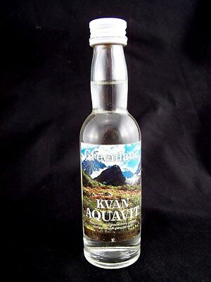 Miniature circa 1983 KVAN AQUAVIT Isle of Wine
