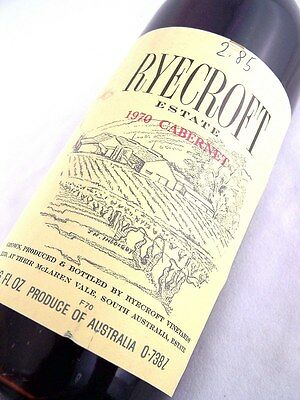 1970 Ryecroft Cabernet Sauvignon Isle of Wine