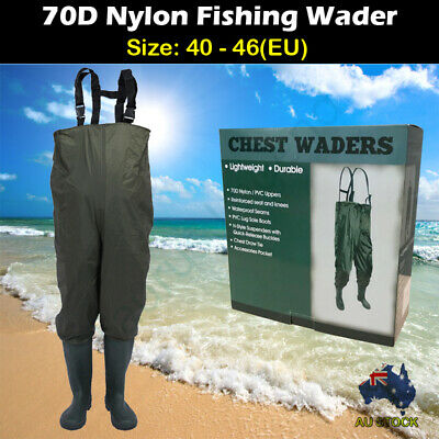 Size 6.5 Waterproof Fishing Trousers Rain Boots All in One Overall for Wader