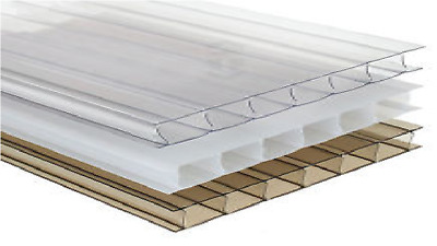 14x Polycarbonate sheets Greenhouse Glass Replacement, Thickness 4mm