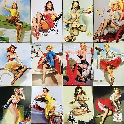 LOTS 30 PCS Pin-Up Girl Gil Elvgren Vintage Retro Beauty Postcards Bulk #7
