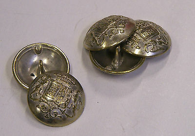 8pc 23mm Latvian Inspired Silver Gilt Metal Military Blazer Button 2199