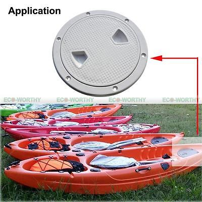 "6"" Round Marine Screw Plate Inspection Hatch Plastic Access Boat,RV,Deck,Cabin"