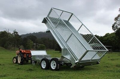 10x5 Hydraulic Tipping Trailer Galvanised Tandem Axle Gold Coast