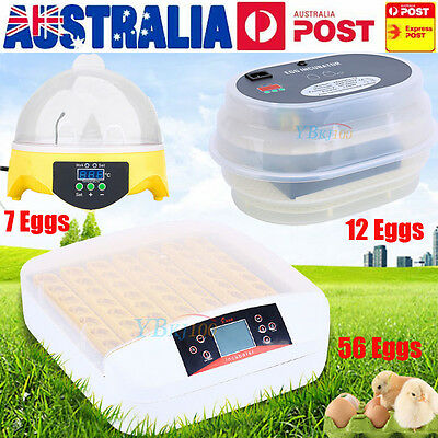 Farm Digital Automatic Chicken 7 12 56 Egg Incubators Poultry Fully Harcher Au