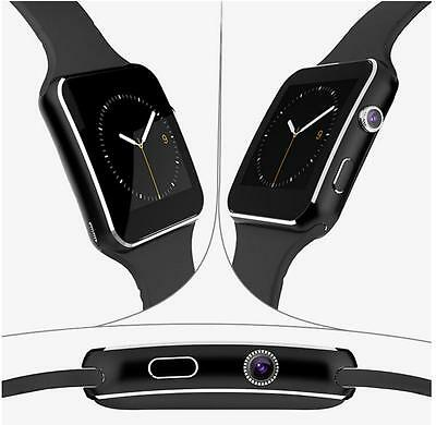 X6 Polso Orologio Intelligente Bluetooth Wrist Smart Watch Per Android IOS Nero