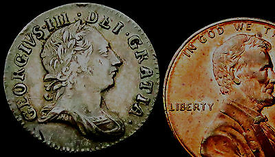 P863: 1762 George III Silver Threepence. Commoner date but beautifully toned