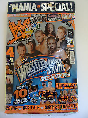 Wwe Kids Magazine Issue 52 Wrestlemania Special Edition New Undertaker Poster
