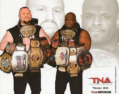 """TEAM 3D TNA WRESTLING IMPACT PROMO PHOTO BULLY RAY D-VON 8x10"""" wwe tag belts"""