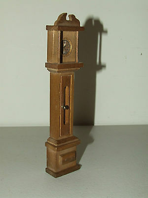 "Antique Victorian Style Grandfather Clock Dollhouse Doll Furniture 7"" Tall"