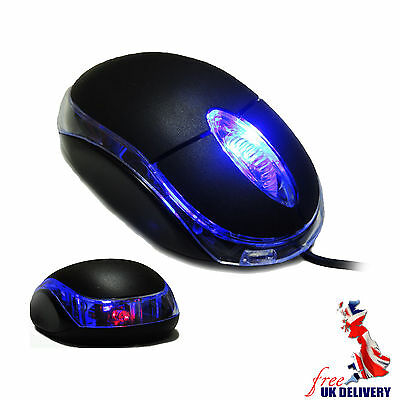 USB Wired Mouse ,  FLASH LED Blue Light Optical Mouse for Laptop & PC