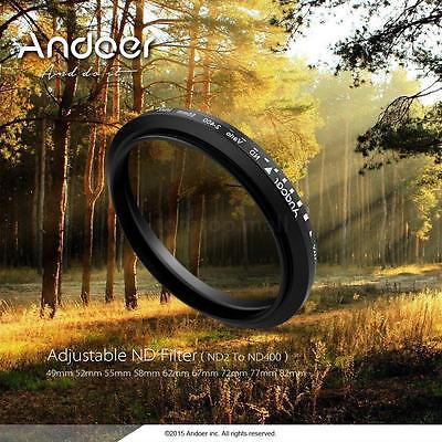 Andoer 67mm ND Fader Neutral Density ND2 to ND400 Variable Filter for Canon DSLR