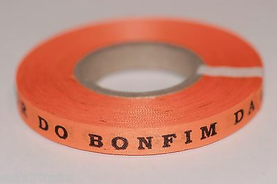 New Roll with 100 Brazilian Wish Bracelets Orange