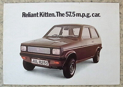 RELIANT KITTEN Car Sales Brochure 1977 #KIT/E/20/1077