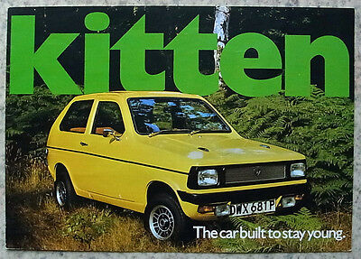 RELIANT KITTEN Car Sales Brochure 1975-76