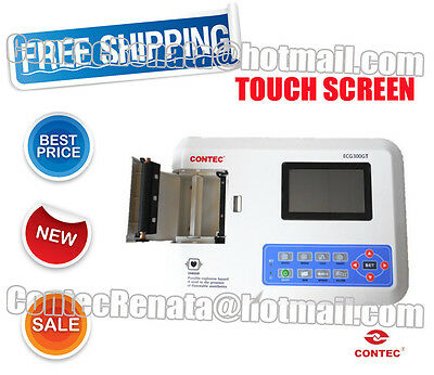 HOT!ECG300GT 3 channel ECG ,Touch Display,Standard 12 leads,electrocardiograph