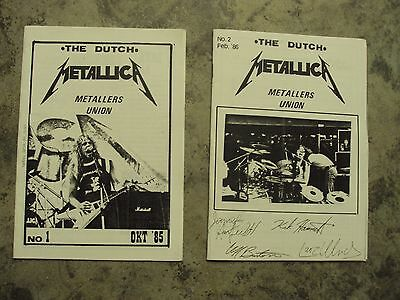 Metallica VERY RARE-VINTAGE  1985 vol 1 & 1986 vol 2 The Dutch Fanzine