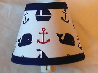 Hamptons Whale Fabric Nursery Nightlight M2M Pottery Barn Kid Bedding
